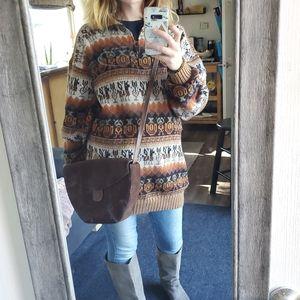 Sweaters - Oversized Knit Boho Sweater
